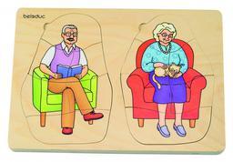 """Puzzle """" grand père - grand mère""""  """