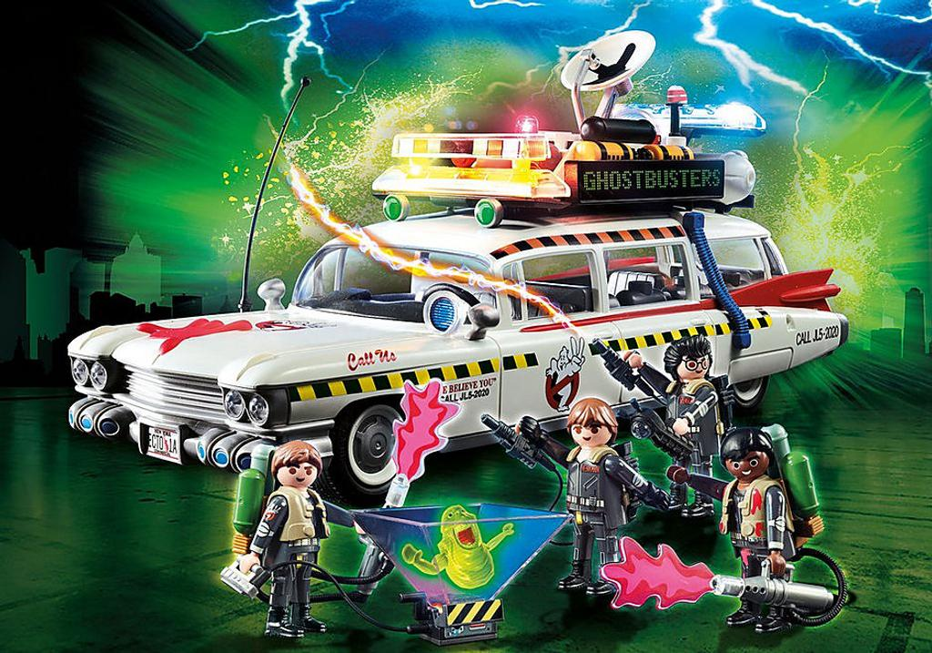 Ghostbusters: véhicule + Sprengler + fantôme   