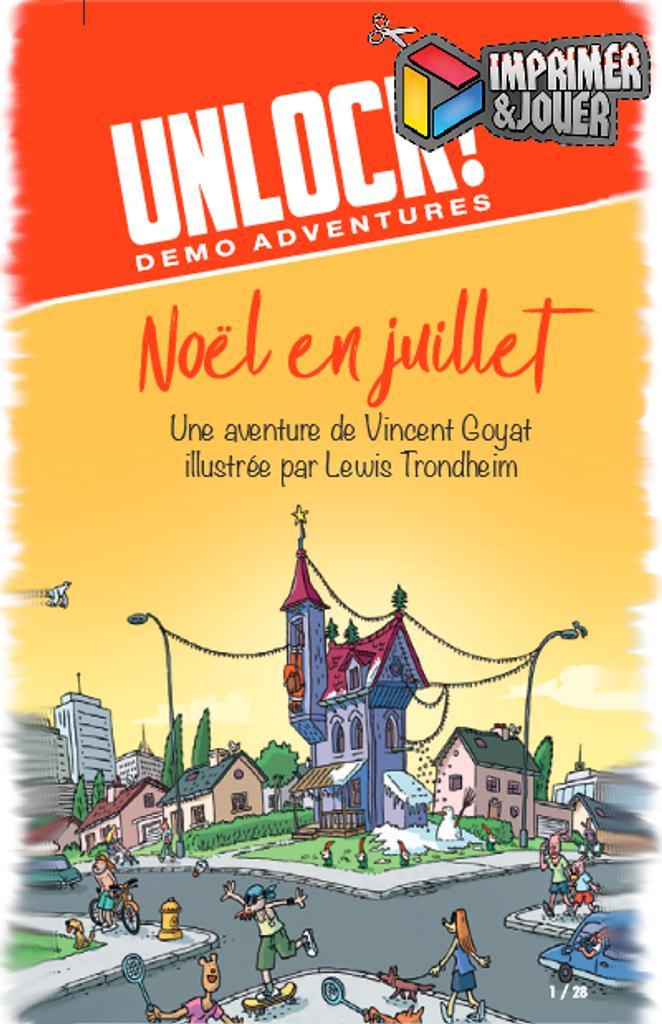 Unlock : Noël en Juillet : Print & Play | Vincent GOYAT. Auteur