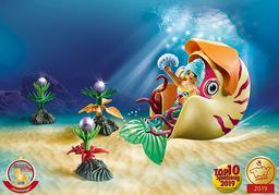 Playmobil sirène avec escargot des mers : sirène  